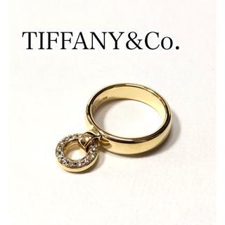 ティファニー(Tiffany & Co.)のTIFFANY&Co. ティファニー K18YG ダイヤ ドアノック リング(リング(指輪))
