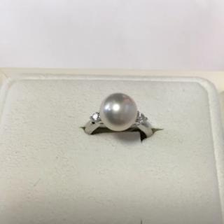 タサキ(TASAKI)の【新品同様】TASAKI タサキ パール ダイヤモンド リング 指輪(リング(指輪))
