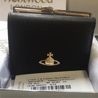 Vivienne Westwood - 【サマーセール】ヴィヴィアンウエストウッド  三つ折り がま口 財布 ブラック