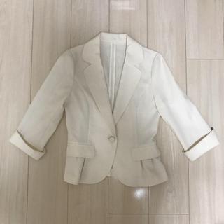 夏用 白 ジャケット(スーツ)