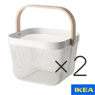 IKEA - ■白×2個セット■IKEA リーサトルプ かご