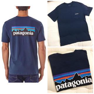 パタゴニア(patagonia)のPatagonia ポケット付き ロゴTシャツ ネイビー(Tシャツ(半袖/袖なし))