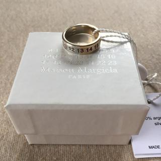 マルタンマルジェラ(Maison Martin Margiela)の新品 マルジェラ ナンバリング ロゴ ツートーン リング 18AW(リング(指輪))