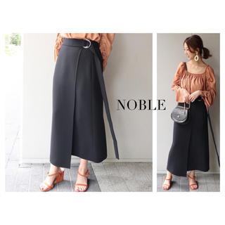 Noble - NOBLE ロングストラップ タイトスカート
