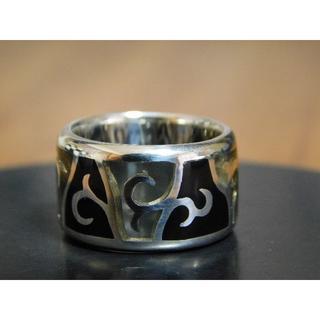 新品 SAINTS ステンドグラス ブラック リング 9号(リング(指輪))