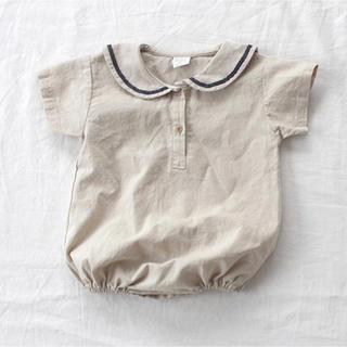 セーラーカラー ロンパース 韓国子供服