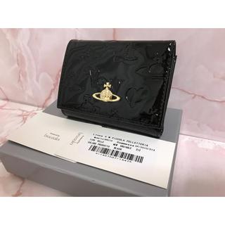 ヴィヴィアンウエストウッド(Vivienne Westwood)のエナメルがま口財布❤️ブラック❤️ヴィヴィアンウエストウッド(財布)