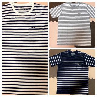 ブルーブルー(BLUE BLUE)の美品 ハリウッドランチマーケット フルーツオブザルーム ボーダー Tシャツ XL(Tシャツ/カットソー(半袖/袖なし))