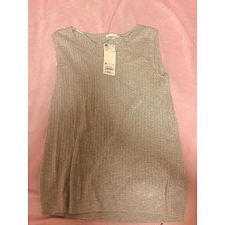 GU - ワイドリブVネックセーター