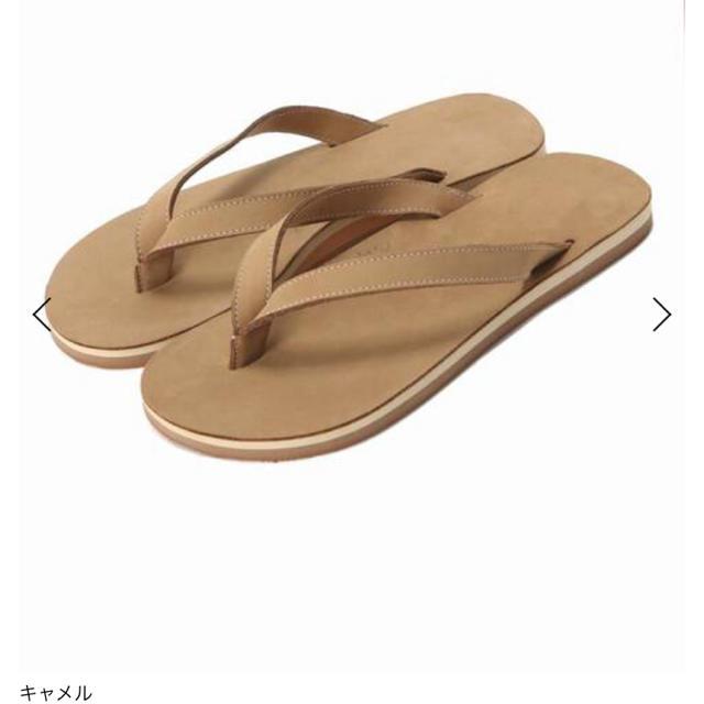 DEUXIEME CLASSE(ドゥーズィエムクラス)のEL NIDO FLIPS FLIPS 37 キャメル  新品タグ付き レディースの靴/シューズ(サンダル)の商品写真
