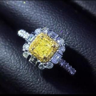 ♡Fancy right yellow ダイヤモンドリング(リング(指輪))