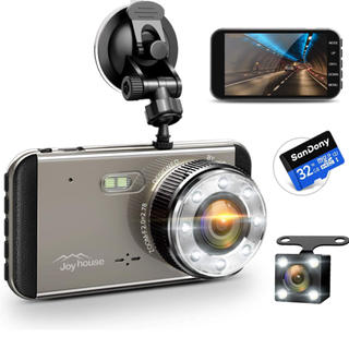 【2019進化版&フルHD1296P】 ドライブレコーダー 前後カメラ 32GB