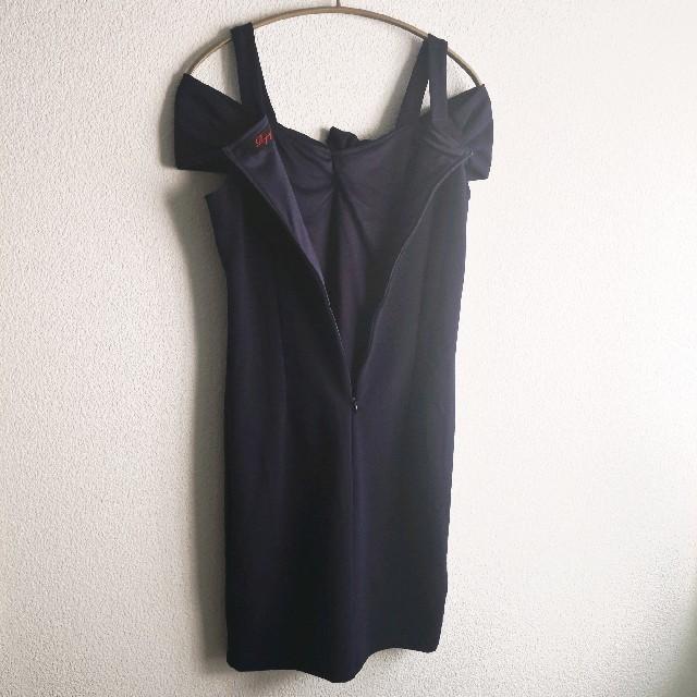 dazzy store(デイジーストア)の【サイズL】Ryuyuねじれデザインリボン風モチーフストレッチキャバドレス レディースのフォーマル/ドレス(ミニドレス)の商品写真