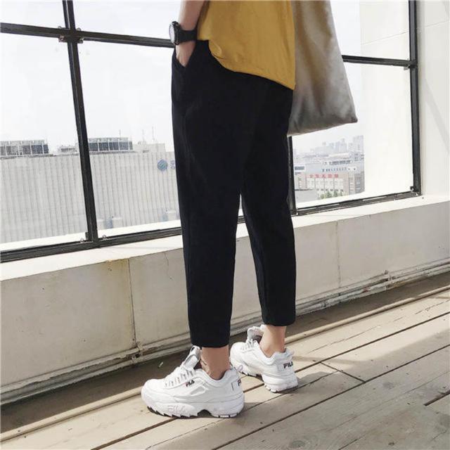 韓国ファッション メンズ ボトムス パンツ ズボン カジュアル シンプルおしゃれ メンズのパンツ(ワークパンツ/カーゴパンツ)の商品写真