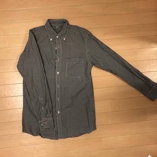 ユニクロ(UNIQLO)のUNIQLO ギンガムチェック シャツ 黒 メンズSサイズ ユニクロ(シャツ)