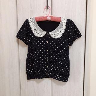 シマムラ(しまむら)の22 ドット 襟付きトップス(Tシャツ(半袖/袖なし))