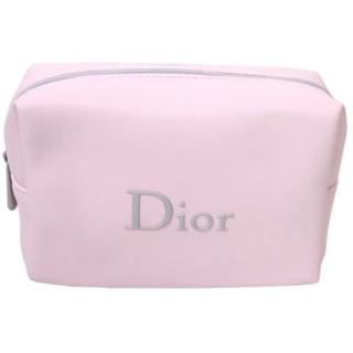 Dior - 【Dior】 ディオール グレーロゴ ノベルティ ソフト ポーチ (箱なし)