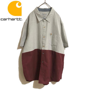 carhartt - 古着 Carhartt カーハート リメイク デザイン シャツ 一点物