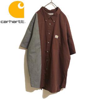カーハート(carhartt)の古着 Carhartt カーハート リメイク デザイン シャツ 一点物(シャツ)