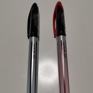ミツビシエンピツ(三菱鉛筆)の三菱 ボールペン uni-ball AIR 赤・黒2本セット(ペン/マーカー)