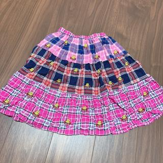 HYSTERIC MINI - チェック刺繍スカート