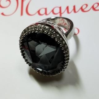 Maqueenスモークブラックのリング(リング(指輪))