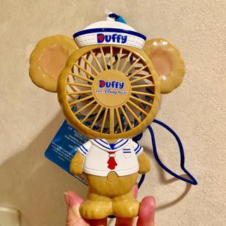 Disney - セール 香港ディズニー ダッフィー 扇風機 ハンディー 卓上 ストラップ