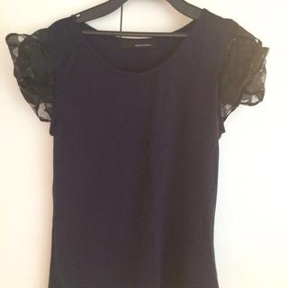 ミスティウーマン(mysty woman)の袖オーガンジーTシャツ♡(Tシャツ(半袖/袖なし))
