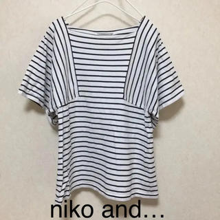 niko and... - ボーダー Tシャツ カットソー niko and
