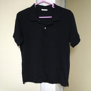 GU - ブラック ポロシャツ