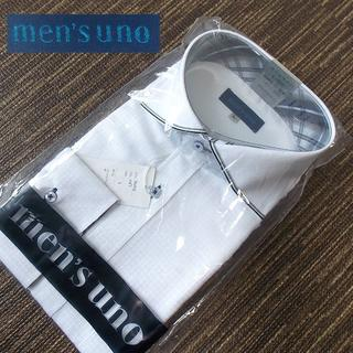 【men's uno】 美品 タグ付き メンズウーノ 形態安定加工ワイシャツ L(シャツ)