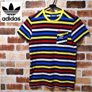 アディダス(adidas)の【adidas】ボーダー柄/半袖/Tシャツ/Mサイズ(Tシャツ/カットソー(半袖/袖なし))