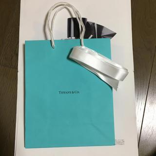 ティファニー(Tiffany & Co.)の激安新品自宅保管短ティファニープレゼントリボン付ショッパー(ショップ袋)