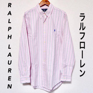 Ralph Lauren - 【RALPH LAUREN】シャツ ストライプ ピンク 古着 長袖