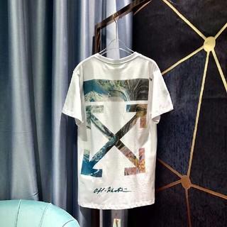 OFF-WHITE - OFF-WHITE ストライプロゴオーバーサイズTシャツ 新品M