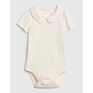 ベビーギャップ(babyGAP)のGap babyより リブ ピーターパン襟ボディシャツ(ロンパース)