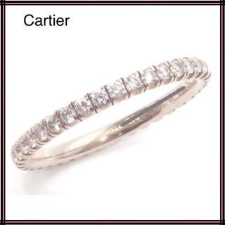 Cartier カルティエ 750WGフルエタニティダイヤモンドリング 51(リング(指輪))