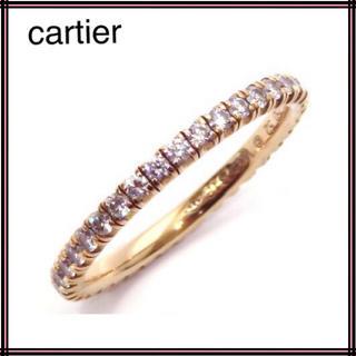 Cartier カルティエ 750PGフルエタニティダイヤモンドリング 52(リング(指輪))