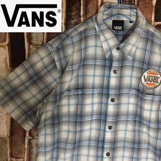 ヴァンズ(VANS)の【激レア】バンズ ヴァンズ  チェックシャツラメ入り 胸ロゴ メンズLサイズ(シャツ)