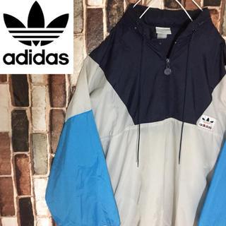 アディダス(adidas)の【激レア】90s アディダス ナイロンジャケット ハーフジップXL(ナイロンジャケット)