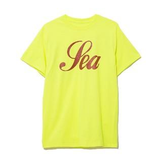 WIND AND SEA T-SHIRT GLITTER /YELLOWLサイズ(Tシャツ/カットソー(半袖/袖なし))