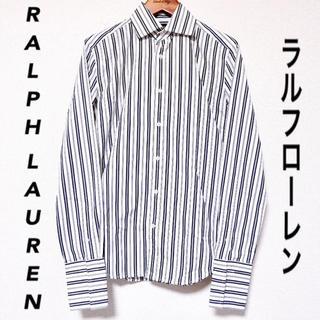 Ralph Lauren - 【RALPH LAUREN】シャツ ストライプ ブラック ホワイト 古着 モード