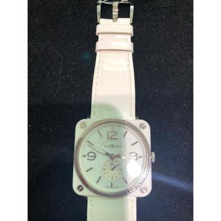 on sale 8e2fe 870e5 正規品 Bell & Ross 腕時計 スクエア ホワイト
