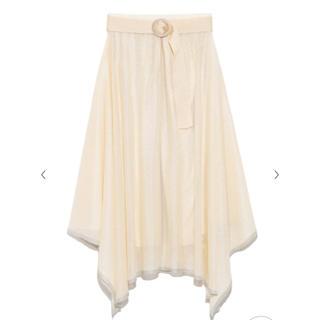 Lily Brown - lily brown ヘムフレアニットスカート