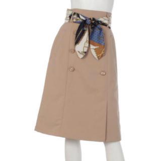 JUSGLITTY - スカーフベルト付トレンチスカート