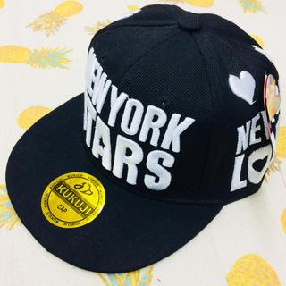NEWYORK STARS キッズキャップ ブラック