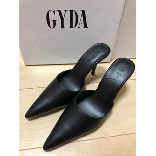 GYDA - 新品未使用タグ付き✩GYDA ポインテッドミュール ブラック Mサイズ