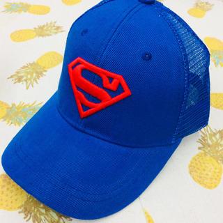 スーパーマン キッズキャップ ブルー メッシュキャップ