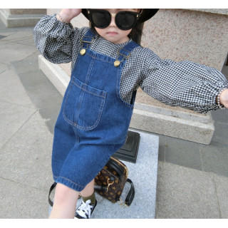 【新品】♡2点セット♡新品 女の子 デニム スカート シャツ セットアップ (ワンピース)