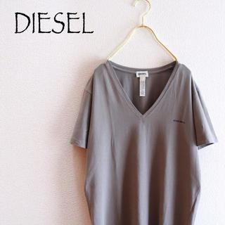 DIESEL - 【DIESEL】Vネック半袖Tシャツ 灰色☆